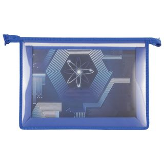 Folder for work BRAUBERG, A4, 2 compartments, plastic, colored area, zipper top, boys,