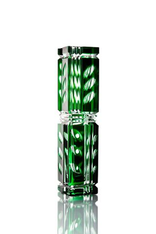 "Crystal vase ""Consul"" medium green"