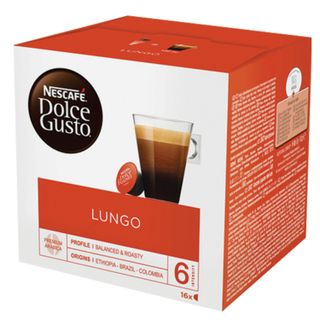 Capsules for NESCAFE Dolce Gusto Lungo coffee machines, natural coffee 16 pcs. x 7 g