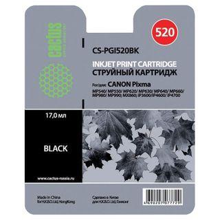 Inkjet cartridge CACTUS (CS-PGI520BK) for CANON Pixma MP540 / 630/980, black