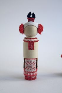 Doll gift. Women's costume of the 19th century. Orel province