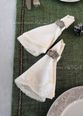 Tablecloth with lace Versailles with green carpet - view 2