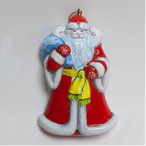 Santa Claus (flat) - Christmas tree toy