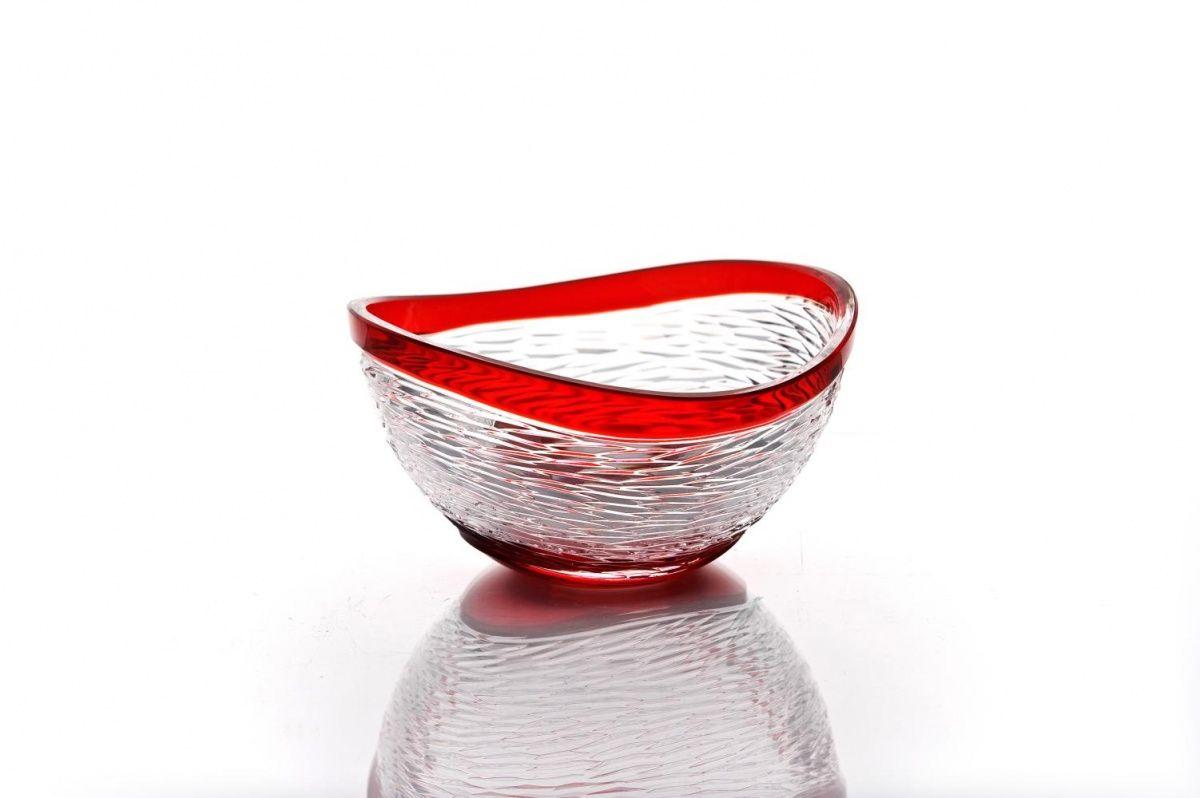 """Crystal vase for cookies """"Serenade"""" red"""