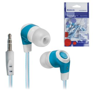 DEFENDER / Headphones Trendy 702, corded, 1.1 m, in-ear, white and blue