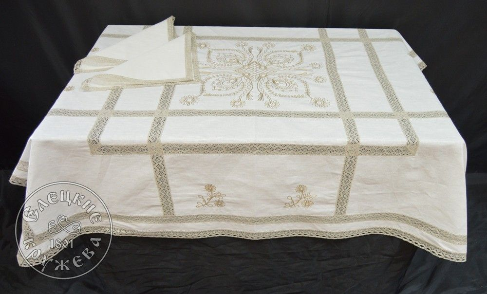 "Yelets lace / Table set ""Tablecloth and napkins"" С539"