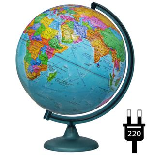 Political relief globe with a diameter of 320 mm with backlight