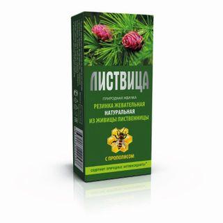 """Natural natural chewing gum """"Smolka larch"""" Listvytsa """"with propolis"""""""