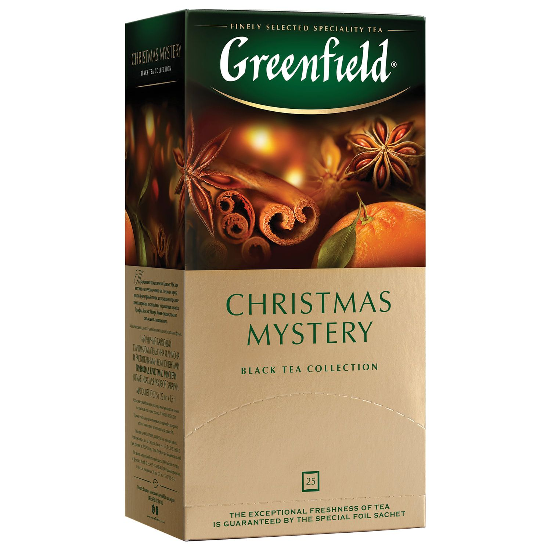 "GREENFIELD / Tea ""Christmas Mystery"" black with cinnamon, 25 sachets of 1.5 g each"