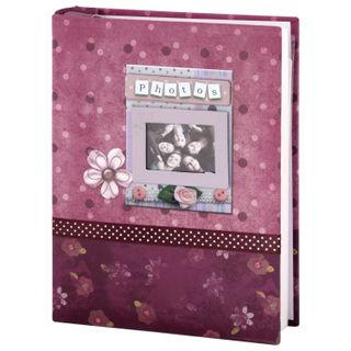 BRAUBERG photo album for 200 photos 10x15 cm, hard cover, Friends, Boxing, lilac