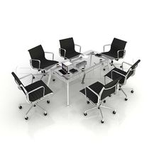 Glaze Meeting Table with Magnet Joint System