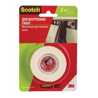 SCOTCH / FOAM BASE double-sided tape 19 mm x 1.5 m, 2 mm
