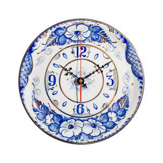 The watch Plate is an original work, Gzhel Porcelain factory