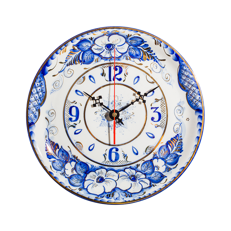 The watch Plate is an original work, Gzhel Porcelain factory