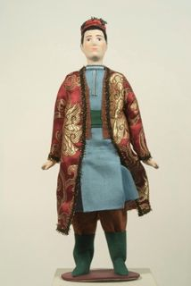 Doll gift. Tatar urban men's suit mid 19th century.