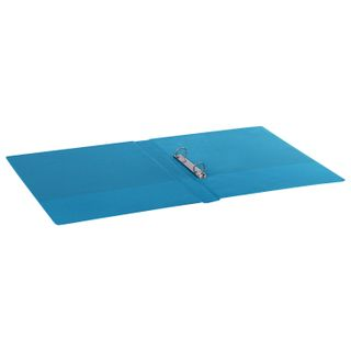 Folder on the 2 rings BRAUBERG, cardboard/PVC, 35 mm, turquoise, up to 180 sheets (double life)