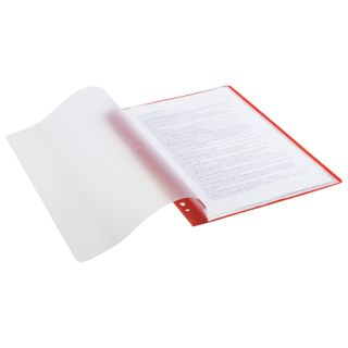 """Folder 10 sacks STAFF """"EVERYDAY"""" with perforation, soft, red, 0.16 mm"""