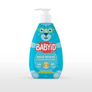 Baby bath milk with olive, macadamia and corn oils for children from birth, 300 ml.