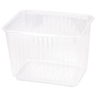 STIROLPLAST / Disposable containers 2000 ml, SET of 50 pcs., WITHOUT LIDS, 179х132х125 mm, PP, transparent (covers 605091)