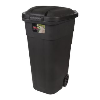 PLAST TEAM / Waste bin on wheels with lid, 84x54x58 cm, plastic, 110 liters