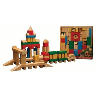 DESIGNER wooden TABLE in the open packaging in the thermo - 150 parts color for children from 3 years