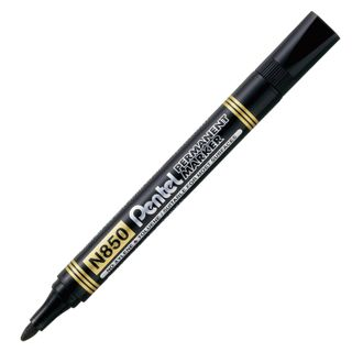 The marker is a permanent (indelible) PENTEL, BLACK, round tip, 4.2 mm
