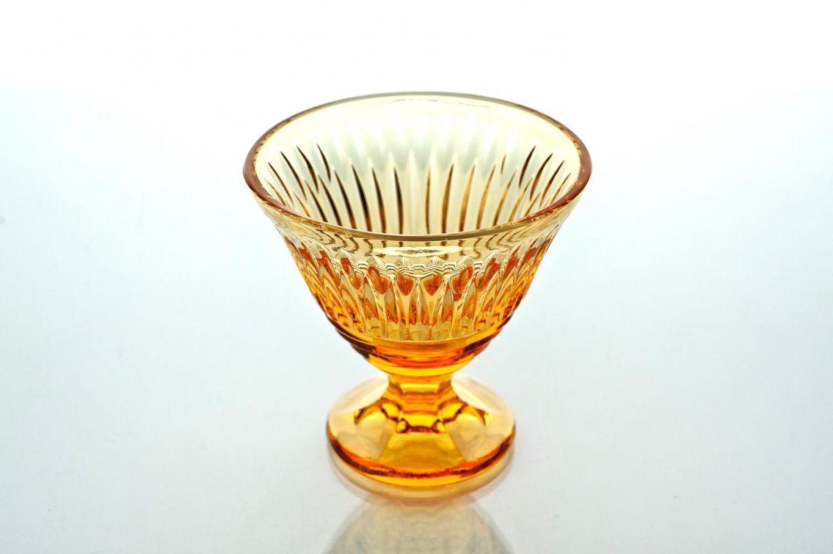 "Crystal vase for cream ""Ivan Kupala"" amber"