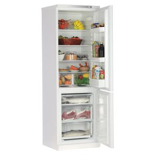STINOL STS 185 refrigerator, 339 litres total, 104 litre lower freezer, 60x62x185cm, silver