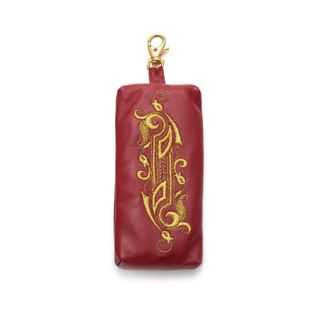 """Leather wallet """"Duet"""" red color with Golden embroidery"""