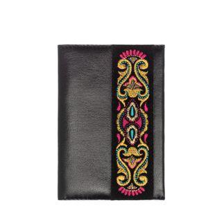 "Passport cover leather handmade ""Rainbow mood"""