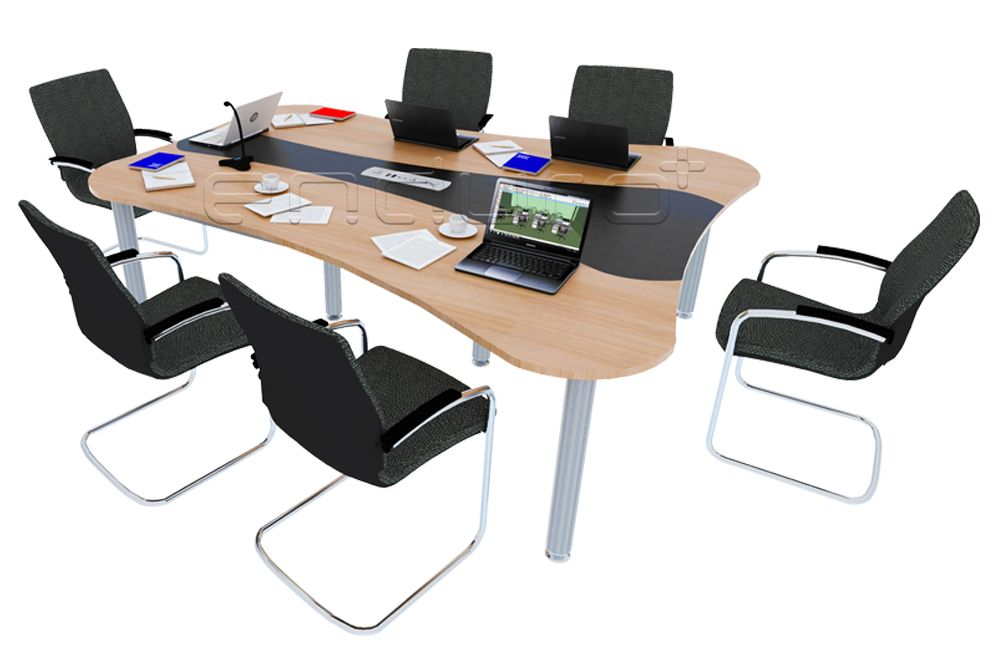 Curve Shaped Meeting Table
