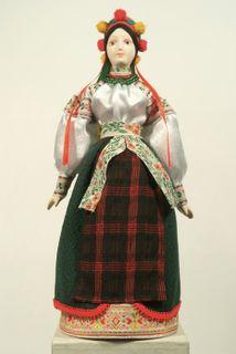 Doll gift porcelain. Ukrainian maiden costume. 19 - n of 20th century Russia.