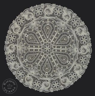 Tablecloth round lace