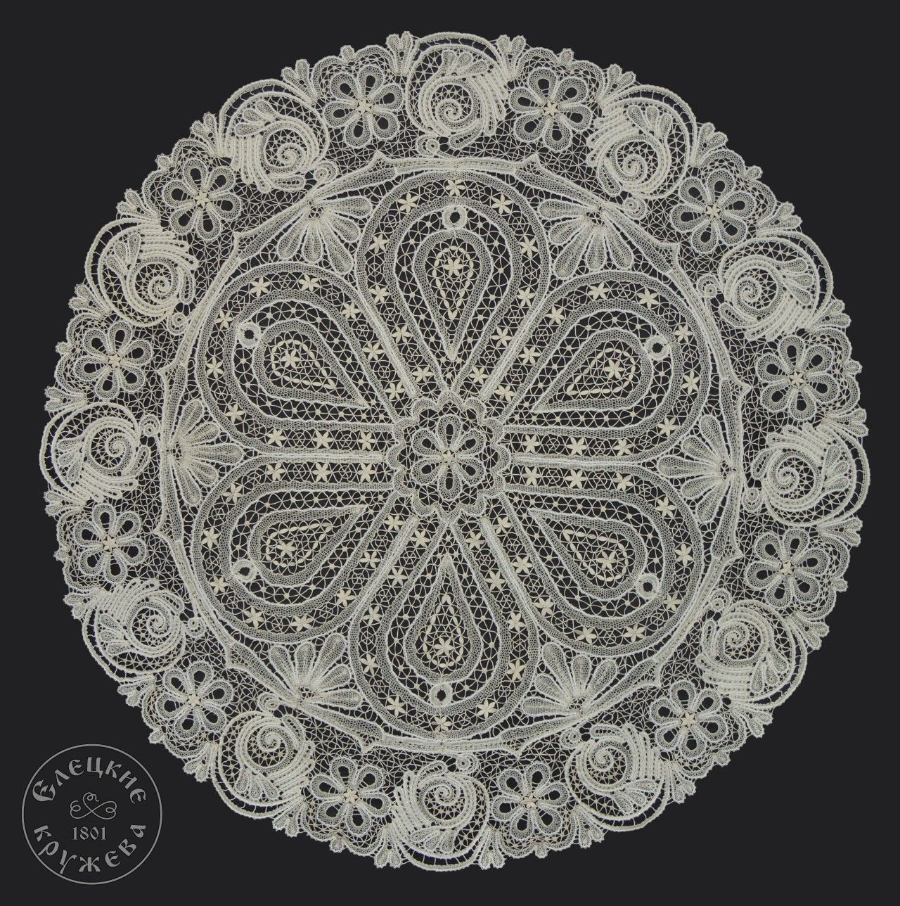 Yelets lace / Round lace tablecloth