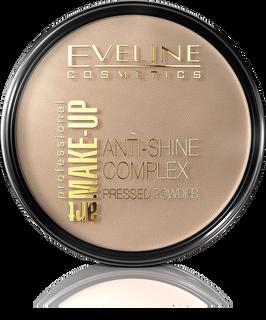 Mattifying mineral powder with silk anti-shine complex pressed powder - golden beige 35 the art. Professional make-up, Eveline
