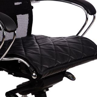 Samurai seat lining, leather, black