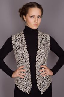Womens vest lace fitted silhouette