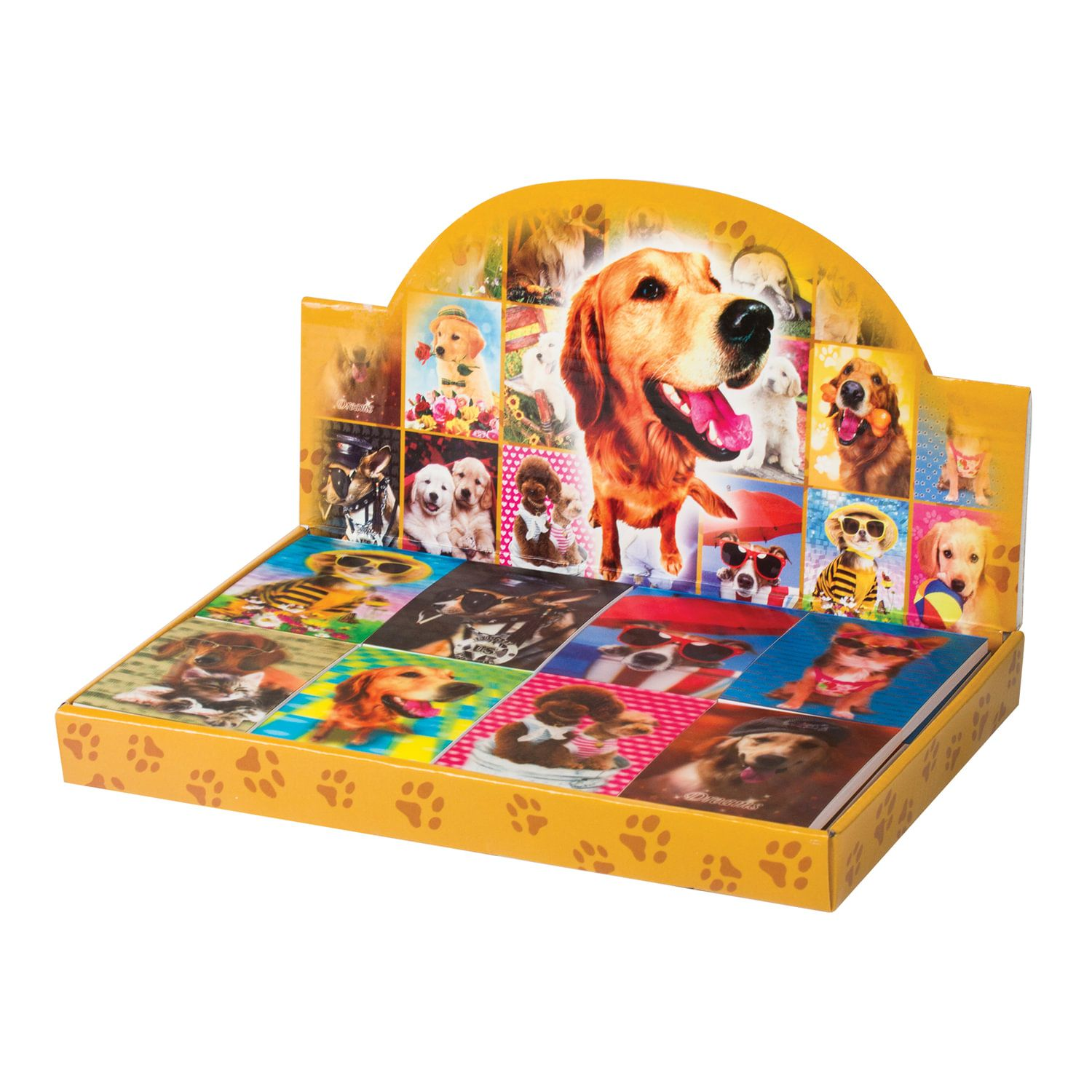 """BRAUBERG / Non-ruled notebook """"Dogs"""" SMALL FORMAT 40 sheets A7, 64x82 mm, gluing, plastic 3D cover, assorted"""
