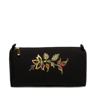 Rosehip cosmetic bag with a gold pattern and red splashes