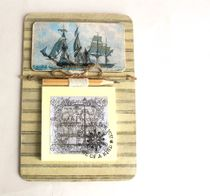 Fridge magnet Sailboat with recording unit