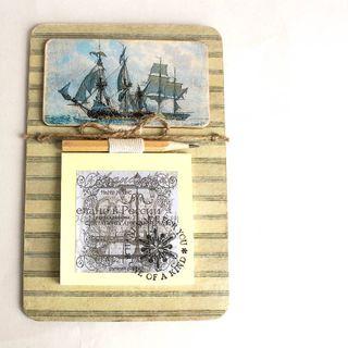 Fridge magnet Sailboat with recording unit