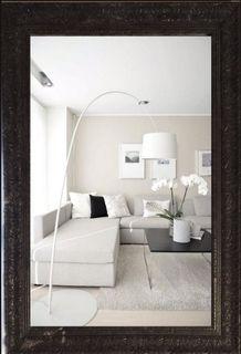 Big mirror in openwork frame marble Tuscany-vintage Graphite (black), 110 X 80 cm