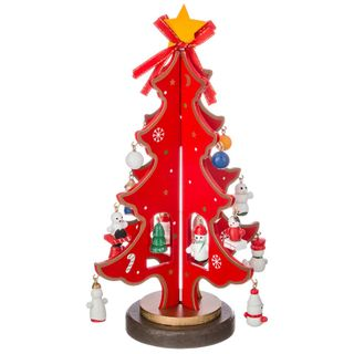 "Wooden figurine ""Christmas Tree red toy"""