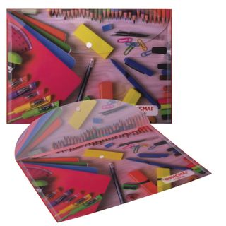 The folder is an envelope with button FISMA, A4, 160 micron, 100 sheets color printing