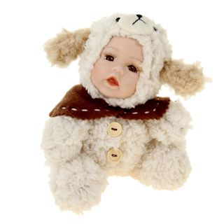 """Porcelain doll """"the Kid in the costume of the dog"""""""