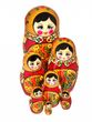 Khokhloma nesting doll 7 dolls - view 1
