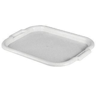 IDEA / Universal tray, medium, 27x39 cm, marble / white rattan