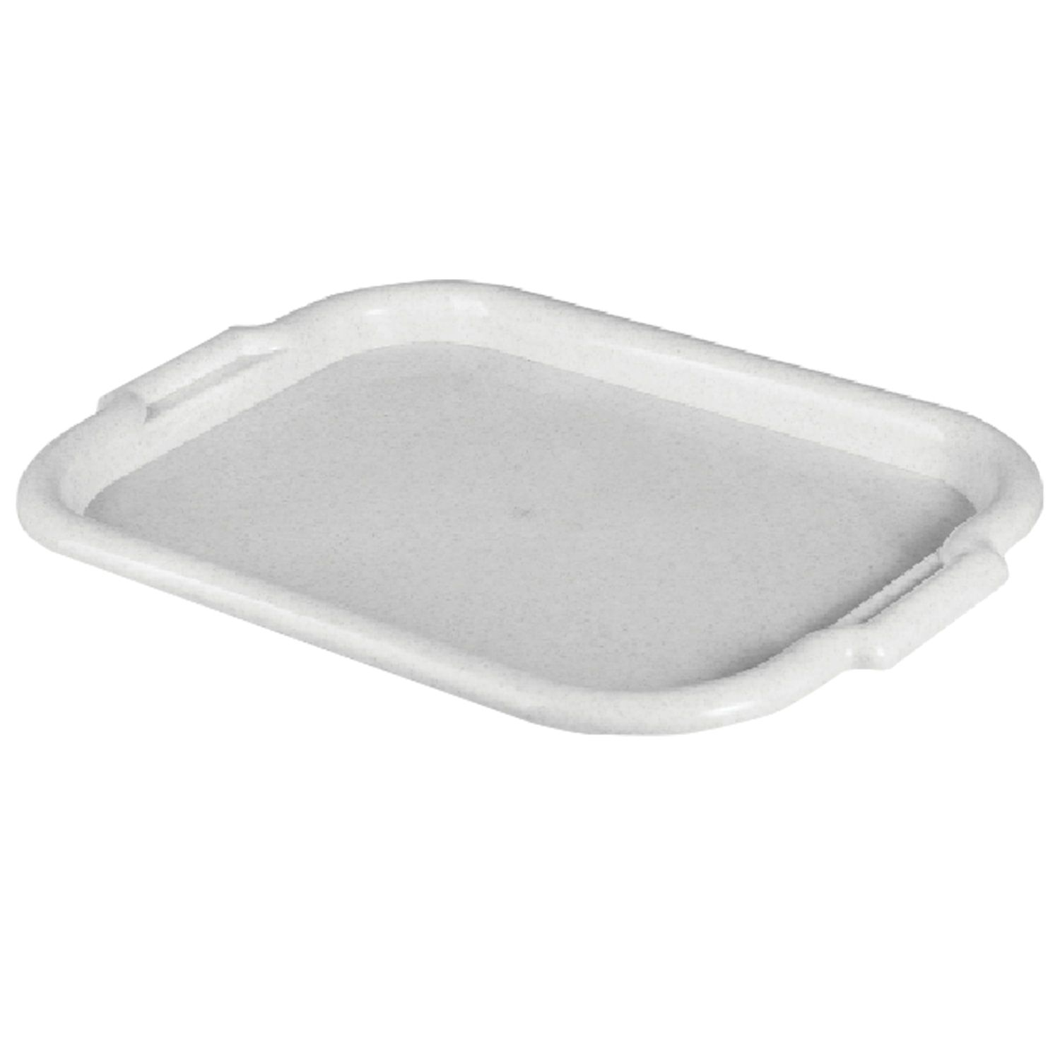 IDEA / Universal tray, medium, 27x39 cm, marble / white rattan