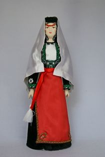 Doll gift porcelain. Armenia. The Eastern districts. Women's traditional costume. Late 19th - early 20th century.