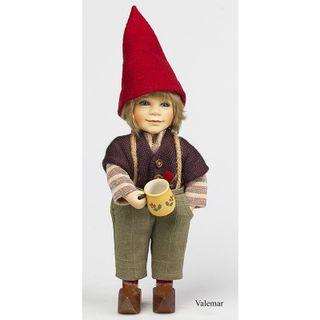 Birgitte Frigast / Porcelain doll Valdemar, 28 cm